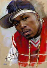 50 Cent, rapper, actor, art print on archive paper by Star