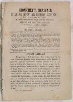 OTTOBRE 1877 ARCHEOLOGIA DOCUMENTO SAN BENEDETTO RARO