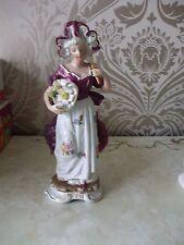 Retrò Vintage in Ceramica Regency LADY Figurina ornamentale 26cm Tall