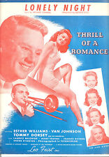 "Thrill Of A Romance Sheet Music ""Lonely Night"" Esther Williams Tommy Dorsey"
