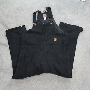 Berne Insulated Coverall Overalls Men's Sz XL Short Black Workwear