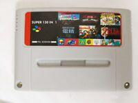 BEST 130 in 1 Super Nintendo SNES Multi Cart Game Card Cartridge PAL EUR Console