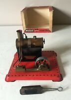MAMOD SE1 LIVE STEAM STATIONARY ENGINE WITH METHS BURNER AND BOX - GOOD USED
