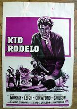 belgian poster western, KID RODELO, DON MURRAY, JANET LEIGH, BRODERICK CRAWFORD