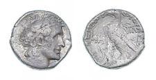 ptolemy xiii theos philopator AR tetradrachm- isis headdress -date LIH