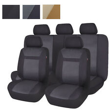 Universal Car Seat Covers Set Breathable 5 Seaters Auto Chair Protectors 11 PCS