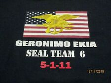 XX-LARGE FEARED BY MANY DEVGRU NAVY SEAL TEAM SIX  MORAL BLACK SHIRT SIZE
