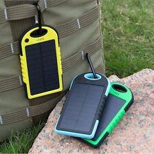 Solar Power Bank Battery Charger Waterproof USB Yellow 3000mAh