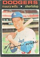 1971 Topps #385 Maury Wills Los Angeles Dodgers Baseball Card
