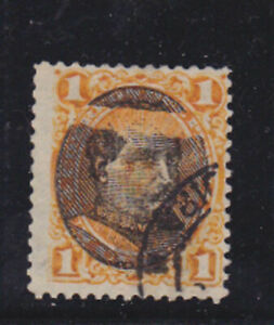 peru 1894 Sc 118 variety - destroyed overprint,used,Scarce!     s2