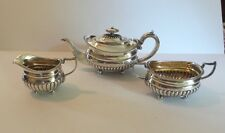 3-Piece English GEORGIAN Sterling Silver Tea Set, Wm. Bennett, c. 1812