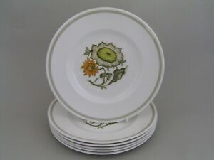 """SET OF SIX SUSIE COOPER SUNFLOWER 6 5/8"""" SIDE PLATES."""