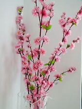 124cm Pink Cherry Blossom Fiore Artificiale Sakura Giapponese matrimonio negozio DECO A9