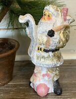 """Santa Figurine made by Celebrate it Christmas 9"""" T Tabletop Decor Reading List"""