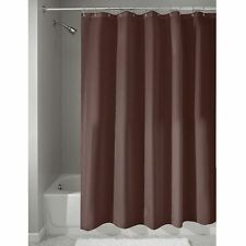 BRAND NEW SOLID BROWN WATER REPELLENT BATHROOM SHOWER CURTAIN LINER VINYL