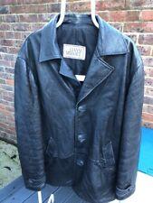 """Mens Vintage Versace Gianni leather jacket/coat Size L    Pit2pit 24"""""""