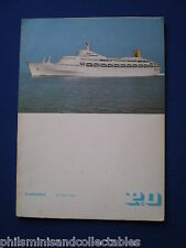 S.S.Canberra Menu Card - Farewell Dinner  Friday 5th July  1974