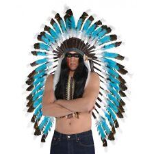 Feather Headdress Adult Indian Costume Halloween Fancy Dress