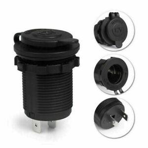 12V Car Boat Motorcycle Cigarette Lighter Socket Power Plug Outlet