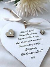 Mother and Father Of The Bride Wedding Keepsake Gift Personalised P211