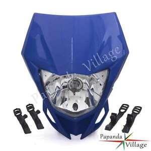 Enduro Headlight Head Light Fairing For Yamaha TTR230 WR250F/X WR450F YZ XT Blue