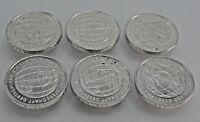 6 x 10 Euro Silbermünze FIFA Fußball-Weltmeisterschaft Deutschland 2005-2006