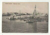 Port Said General View Egypt North Africa Vintage Postcard Cairo Trust 288c