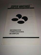 INFORMATION AND PRECAUTIONS FOR EMPLOYMENT SNES/INFORMACIÓN  PRECAUCIONES BANDAI