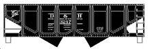 Accurail HO Delaware & Hudson 55-Ton Panel Side Twin Hopper ACU2808
