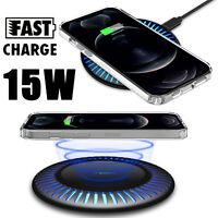 For iPhone 12 Pro Max/SE 2/11 15W Qi Wireless Charger Fast Charging Dock Station