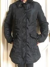 Women's PEUTEREY Black Fitted Coat Parka Ski Winter Jacket, Size 48 (Medium),