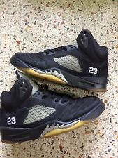 2011 Air Jordan V 5 Retro BLACK METALLIC SILVER OG 136027-010 SZ 9.5