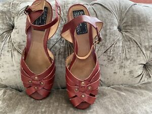 Bertie Leather Sandals  Size UK7