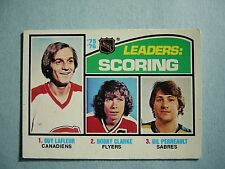 1976/77 O-PEE-CHEE NHL HOCKEY CARD #3 GUY LAFLEUR SCORING LDR EX+ EXNM SHARP OPC