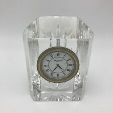 Waterford Crystal Colonade 3 7/8 inch Clock Cut Glass Battery Vanity