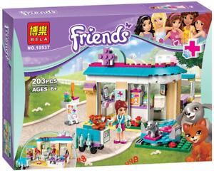 203pcs Vet Clinic Friends Series Set Building Block Toys For Lego Emma Stephanie