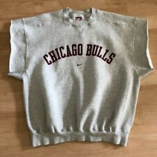 Nike Chicago Bulls Cut Off Sweatshirt L Vintage 1998 Pippen Last Dance