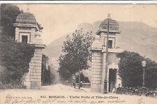 MONACO 811 vieille porte et tête de chien éd giletta timbrée monaco 1904