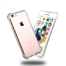 Transparent Clear Hard Back Case Silicone Cover for iPhone X 5 SE 6 6s 7 8 Plus