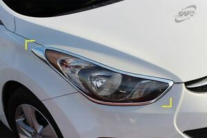 New Head Light Cover Chrome Molding Trim K957 for Hyundai Elantra 2011 - 2016