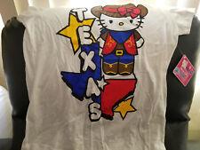 Hello Kitty White Texas Short Sleeve Tee T-shirt- Juniors XL 15/17 - NWT