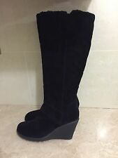 HOUSE OF FRASER Knee-high Wedge Platform Boots With Comfort Sole -UK Size 6 (39)