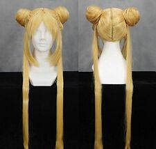 Sailor Moon Tsukino Usagi Anime Manga Perücke Wig Haare Cosplay Blond Gelb Lang