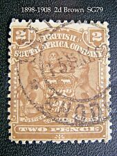 1898-1908 British South Africa Co. brown TWO PENCE  postage stamp