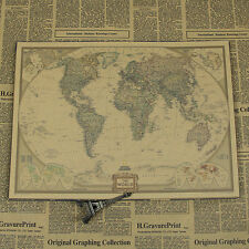 Obama World Map Poster Kraft paper FREE SHIPPING