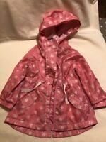 Pink toddler girls rain coat 12-18 Months