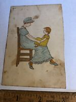 Vintage Victorian trade advertising card 1883 Spring Millinery Opening