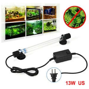 Fish Tank UV Light Sterilizer Clean Lamp 13W Submersible Aquarium Pond US