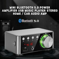 Bluetooth 5.0 Power Amplifier USB Music Player Stereo Home / Car Audio Amp White