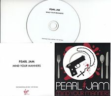 PEARL JAM Mind Your Manners 2013 UK 1-trk promo test CD